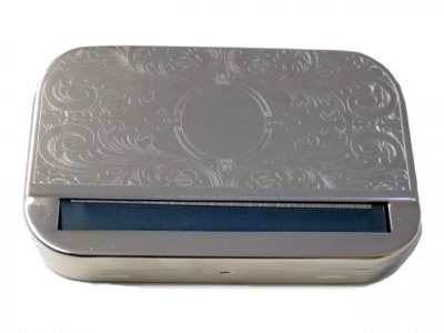Chrome Patterned Rolling Tin Kingsize (for 115mm Paper)