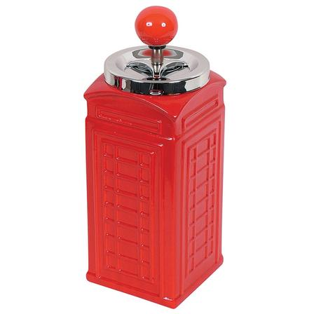 Spinning Ashtray Chrome Telephone Box Red (Desktop Size)