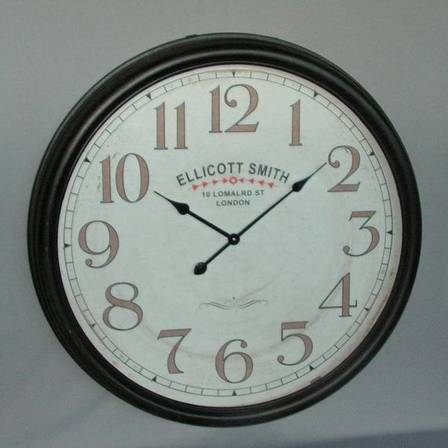 Wood Bezel Clock - 78cm - With Glass